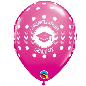 I11″ 48293 Congratulations Graduate Dots Wild Berry *25b