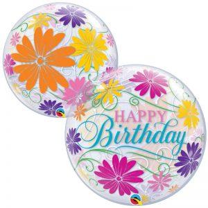 Bubble 22″ 49087 Birthday Flowers & Filigree *1b