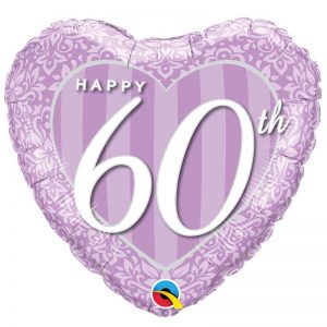 M18″ 49132 Happy 60th Damask Heart *1b