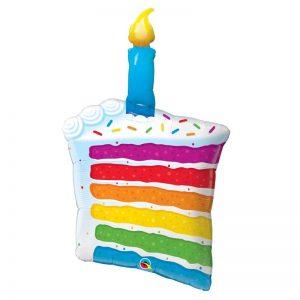 M42″ 49379 Rainbow Cake & Candle *1b
