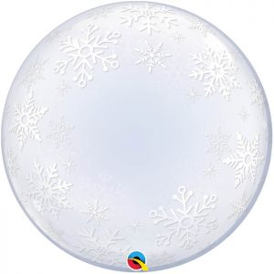 "Déco Bubble 24"" 52005 Frosty Snowflakes *1b"