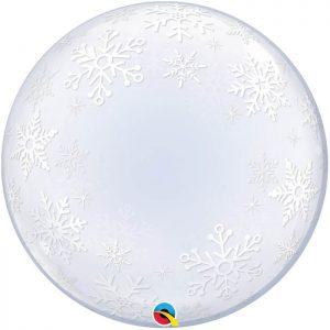 """Déco Bubble 24"""" 52005 Frosty Snowflakes *1b"""