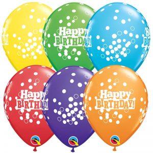 I5″ 52973 Bright Rainbow Birthday Confetti Dots *100b