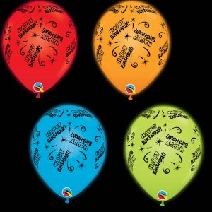 Q-LITE 53633 Birthday Lite Assortiment Red/Orange/Blue/Green *4b