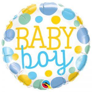 "M18"" 55385 Baby Boy Dots *1b"