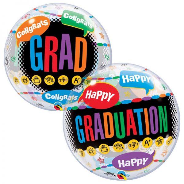 """Bubble 22"""" 55800 Happy Graduation Congrats Grad *1b"""