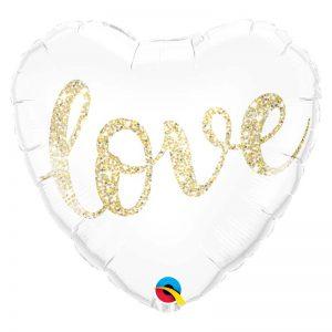 "M18"" 57322 Love Glitter Gold *1b"