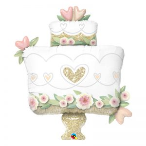 "M41"" 57377 Glitter Gold Wedding Cake *1b"