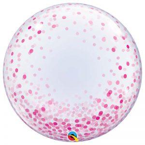 """Déco Bubble 24"""" 57790 Pink Confetti Dots *1b"""
