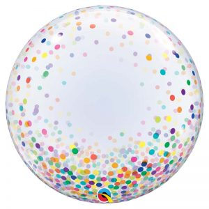 "Déco Bubble 24"" 57791 Colourful Confetti Dots *1b"