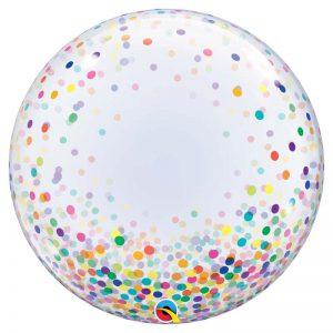 """Déco Bubble 24"""" 57791 Colourful Confetti Dots *1b"""
