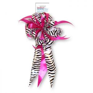 Noeuds cadeaux Masterbow Zebra/Fuchsia (1ct)