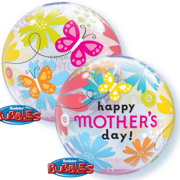 Bubble 22″ 79717 Mother's Day Butterfly Floral *1b