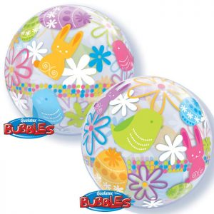 Bubble 22″ 90595 Spring Bunnies & Flowers *1b