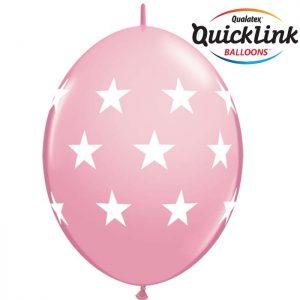 12 Quick Link Big Stars Pink / Rose Clair* 50b