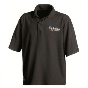 Qualatex Black Polo Teeshirt taille M