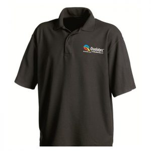 Qualatex Black Polo Teeshirt taille XL