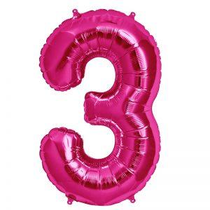 "34"" Number 3 - Magenta B1-01"