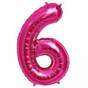 "34"" Number 6 - Magenta B1-01"