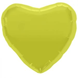 "Coeur Citrine Yellow Heart 18"" D1"