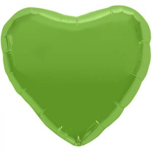"Coeur Lime Green Heart 18"" D1"