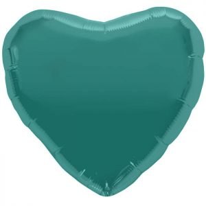 "Coeur Teal Heart 18"" D1"