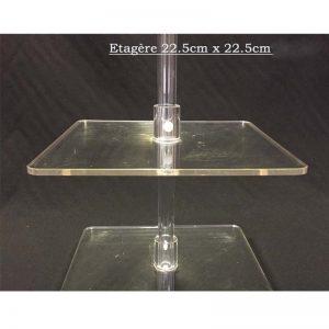 Plexipole VPSS9 Étagère 22.5cmx22.5cm