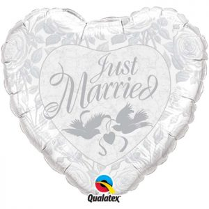 M36 82425 Just Married Pearl White & Silver