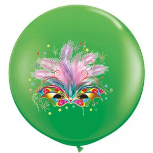 I3' 10015 Masque Carnaval Spring Green 2 Faces - HELIUM *1b
