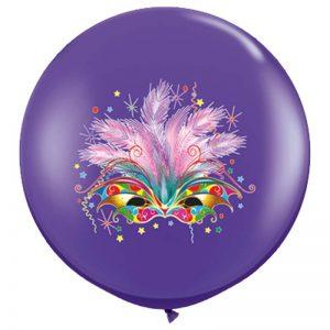 I3' 10015 Masque Carnaval Purple Violet 2 Faces - HELIUM *1b