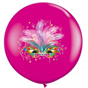 I3' 10015 Masque Carnaval Wild Berry 2 Faces - HELIUM *1b