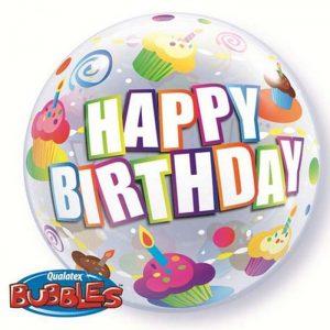 Bubble 12″ 26396 Birthday Cupcakes *10b