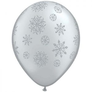 I11″ 80170 Glitter Snowflakes Silver *25b