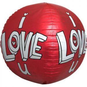 I LOVE U DOODLES Sphere 17''/43cm C1-01