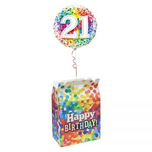 Birthday Rainbow Confetti Balloon Box 38*23.2*38.5cm *10pcs