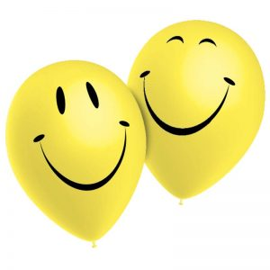 Ballons Smiley *10