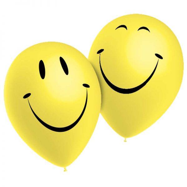 Ballons Smiley *10