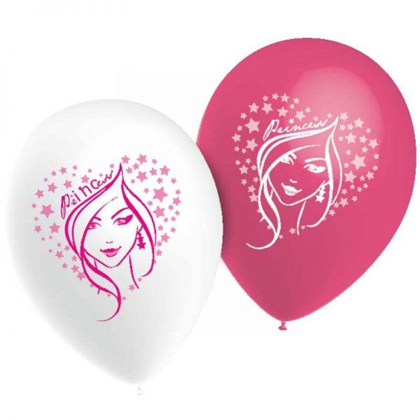 Ballons Visage princesse *10