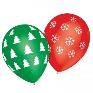 Ballons Sapin et Flocons *8