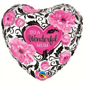 M18″ 41830 Wonderful Mum Floral Damask *1b