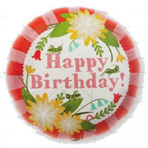 "Birthday Mod Floral 18"" D2-01"