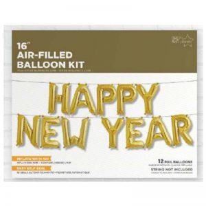 HAPPY NEW YEAR KIT GOLD 16'' F3-01
