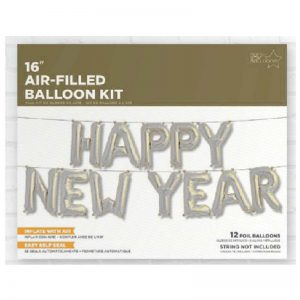 HAPPY NEW YEAR KIT SILVER 16'' F3-01