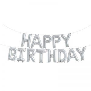 HAPPY BIRTHDAY KIT SILVER 16'' F3-01