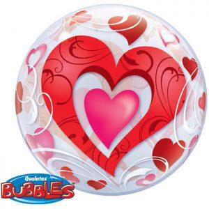 Bubble 22″ 33909 Red Heart et Filigree *1b