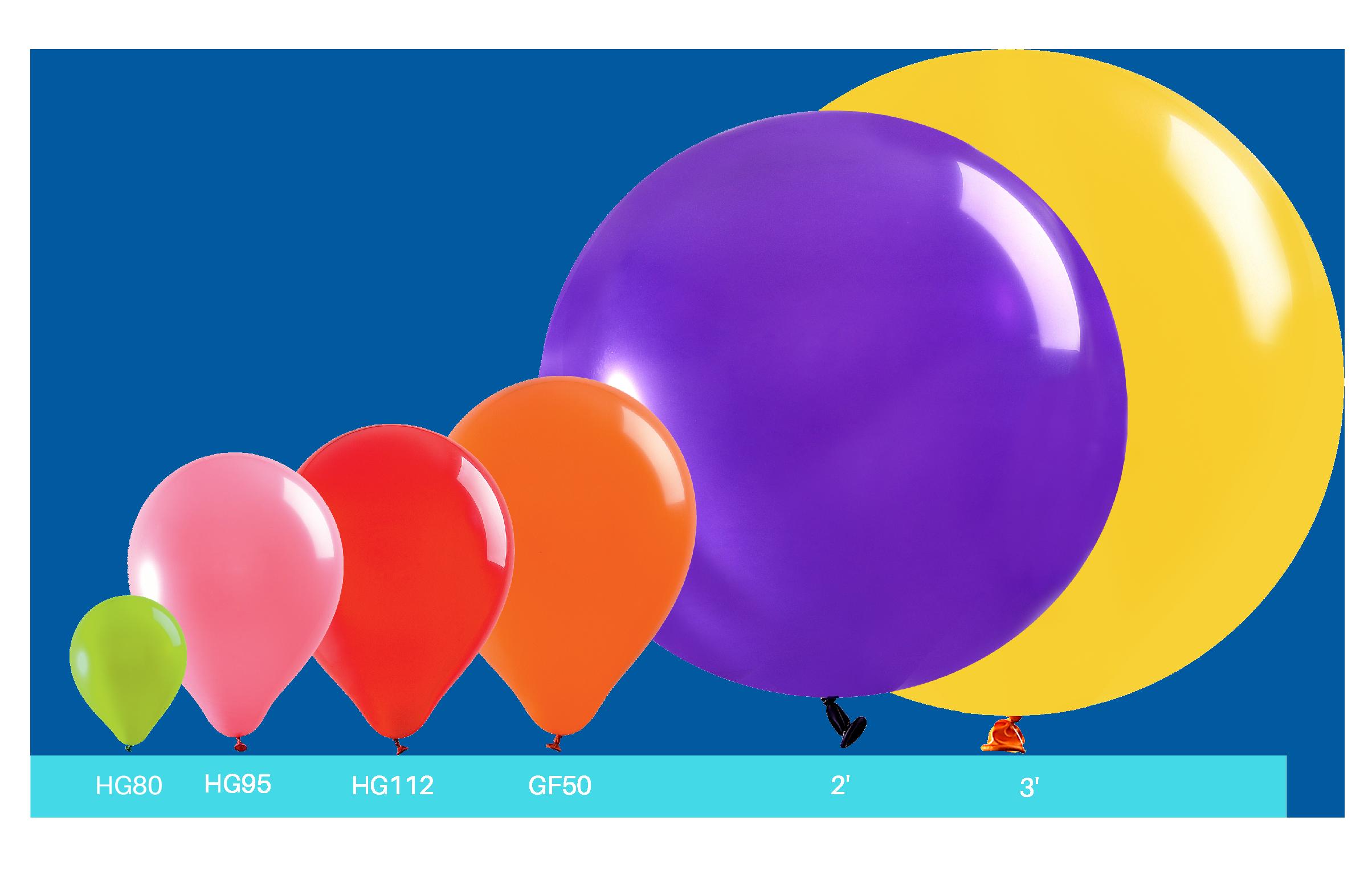 Différentes tailles ballons latex impression