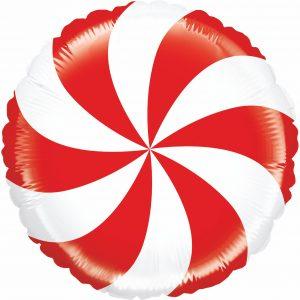 Ballon Aluminium 21″ Mighty Peppermint Candy – Grabo
