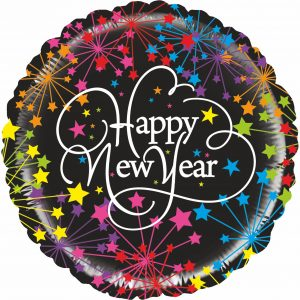 Ballon Aluminium 21″ Mighty New Year Firemorks – Grabo