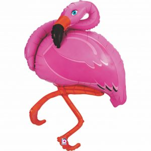 Ballon Aluminium 48″ Pink Flamingo – Grabo