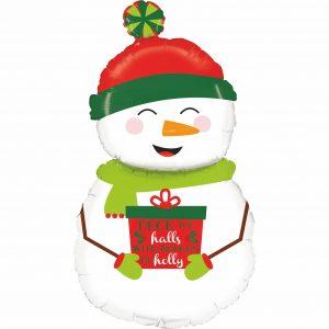 Ballon Aluminium 40″ Holiday Snowman – Grabo